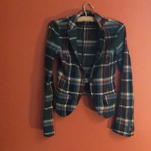 Free people flannel blazer size 2